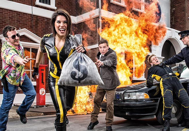 movie park germany-stunt show