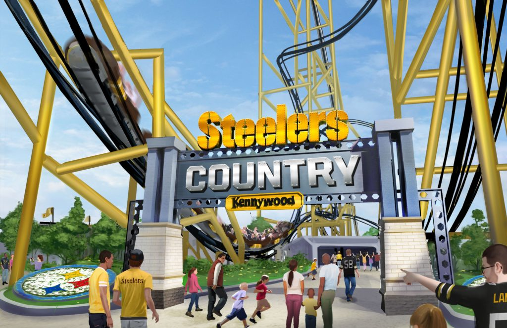 This Is The First Agreement Between A Leisure Park And National Football League NFL Team Kennywood