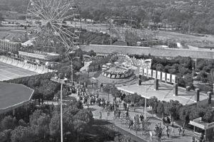 Vista aérea del Parque de Atracciones de Madrid